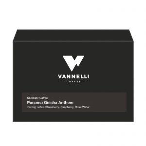 Panama Geisha Anthem fronte Vannelli Coffee