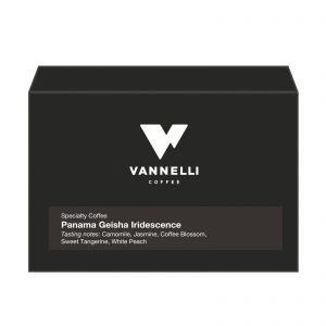 Panama Geisha Iridescence fronte Vannelli Coffee
