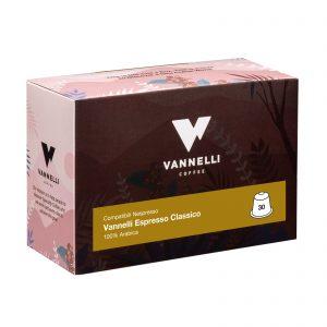 capsule compostabili classico 3/4 vannelli coffee