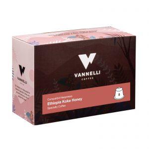 capsule specialty ethiopia koke 3/4 vannelli coffee