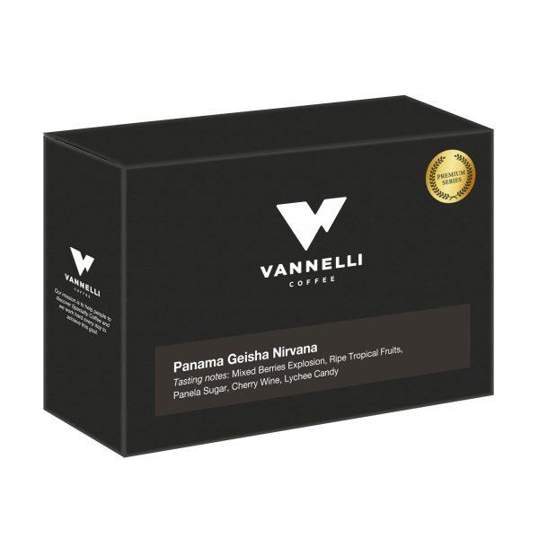 Panama Geisha Nirvana Premium series fronte Vannelli Coffee